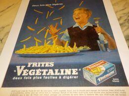 ANCIENNE PUBLICITE  2 FOIS PLUS LEGERE VEGETALINE 1961 - Posters