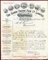 "SHEFFIELD  (1895) : "" THE HARDY PATENT PICK Co LIMITED "" Forage Charbon Et Schiste - Royaume-Uni"