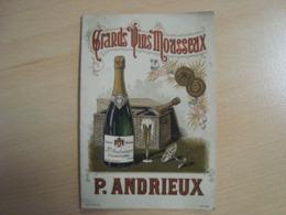 DOCUMENT PUBLICITAIRE P. ANDRIEUX GRANDS VINS MOUSSEUX SAUMUR - Publicidad