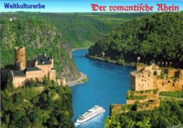 1 AK Germany * Burg Katz - Burg Rheinfels Und Der Loreley Felsen - Seit 2002 UNESCO Weltkulturerbe * - Loreley