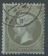 Lot N°51319  Variété/n°19, Oblit Cachet à Date De BAZANCOURT Marne 49, Trait Blanc Coté Perles NORD EST - 1862 Napoleone III
