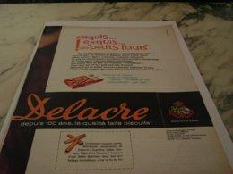 ANCIENNE PUBLICITE PETITS FOURS DELACRE 1961 - Posters
