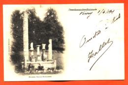 """CPA 52 Bourbonne Les Bains """" Ruines Gallo Romaines """" Carte Precurseur 1901 Partie De Voisey - Bourbonne Les Bains"""