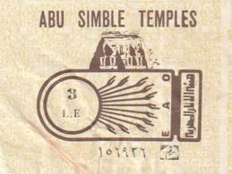 TICKET - ENTRADA / ABU SIMBLE TEMPLES 1989 - Tickets - Entradas