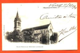 """CPA 52 Bourbonne Les Bains """" église Paroissiale """" Carte Precurseur 1901 Partie De Voisey - Bourbonne Les Bains"""