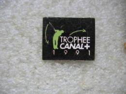 Pin's Du Trophée CANAL+ En 1991. Sport Golf - Golf