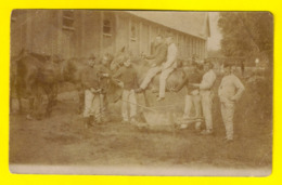 BRASSCHAAT POLYGONE 1905 FOTOKAART ARTILERIE CAVALERIE MILITAIR PAARD CARTE PHOTO CAVALIER MILITAIRE CHEVAL SOLDAT 3495 - Militaria