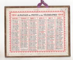 CALENDRIER DES POSTES 1914 PETIT FORMAT   BEL ETAT - Calendriers