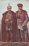 AK Deutschlands Stolz! - Kaiser Wilhelm II Und Hindenburg - Wohlfahrts-Karte Patriotika - 1915 (43900) - Guerra 1914-18