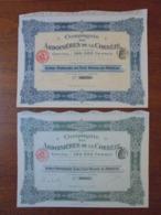 FRANCE - ARDOISIERES DE LA CORREZE, PARIS 1911 - LOT DE 2 TITRES DIFFERENTS - VOIS SCAN - Shareholdings