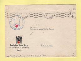 Croix Rouge Allemande - Paris - 27-5-1941 - Pour Le Delegue En France Pour La Croix Rouge De Vesoul - Postmark Collection (Covers)
