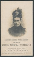 Doodsprentje Joanna Theresia VERBESSELT ° Londerzeel 1846 + 1916 (echtg. Vitalis MERTENS) - Religion & Esotérisme