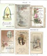 Lot De 12 Images Religieuses - Souvenir De Communion - Date Visible 1899 à 1962 - Toutes Scannées - Images Religieuses