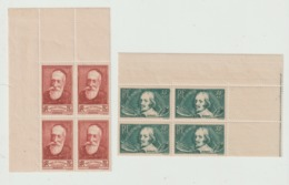FRANCE 1938 N° 380 à 385 ** MNH EN 4 EXEMPLAIRES COTE 360 EUROS - France