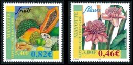 MAYOTTE 2001 - Yv. 106 Et 107 **   Faciale= 1,28 EUR - Fruits, Fleurs  ..Réf.AFA23336 - Mayotte (1892-2011)