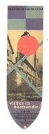 Marque-pages Publicitaire - Chemins De Fer De L' Etat - Visitez La Normandie (b260/3) - Marque-Pages
