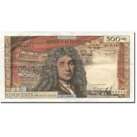 France, 500 Nouveaux Francs, Molière, 1966, 1966-01-06, TTB+, Fayette:60.9 - 1959-1966 ''Nouveaux Francs''