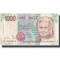 Billet, Italie, 1000 Lire, KM:114a, TB - [ 2] 1946-… : République