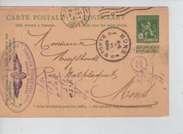 PR7353/ Entier CP 5c Pellens C.Anvers 5/6/1914 C.Roue Ailée Ass.Générale Des Agrées Section Anvers > Mons C.d'arrivée - Stamped Stationery