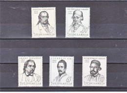 YOUGOSLAVIE 1963 Célébrités I Yvert 961-965 NEUF** MNH - 1945-1992 République Fédérative Populaire De Yougoslavie