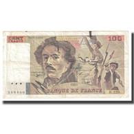 France, 100 Francs, Delacroix, 1993, 1993, TB, Fayette:69bis.7, KM:154e - 1962-1997 ''Francs''