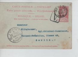 PR7354/ Entier CP FB 10c C.Herstal 1903 Perforé F.N. Fabrique Nationale D'Armes De Guerre > Berlin C.d'arrivée C.Grand V - 1863-09