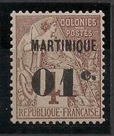 Martinique - 1888-1891 - N°Yv. 8 - 01 Sur 4c Brun - Neuf Luxe ** / MNH / Postfrisch - Ungebraucht