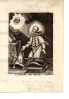 Image Pieuse S. Fraciscus De Sales 1785 (parchemin) - Images Religieuses