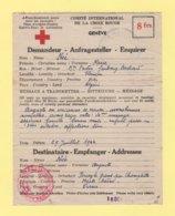 Formule Croix Rouge - Percey Le Grand Haute Saone - Tlemcen Algerie - 1944 - Delegation De La Haute Saone - Marcophilie (Lettres)
