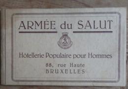 """Bruxelles - Armée Du Salut - Carnet De 14 Photos """"Hotellerie Populaire Pour Hommes"""" - Voir 17 Scans. - Altri"""