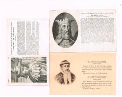 Lot De 8 Cartes.Célébrités. - Personnages Historiques
