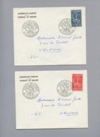 5 Lettres Avec Timbres EUROPA Oblitérées Conseil De L'Europe - Curiosidades: 1960-69 Cartas