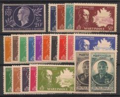 Martinique - 1944-45 - N°Yv. 198 à 219 - Complet - 22 Valeurs - Neuf Luxe ** / MNH / Postfrisch - Neufs