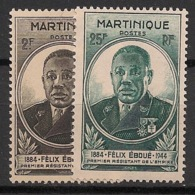Martinique - 1945 - N°Yv. 218 à 219 - Eboué - Neuf Luxe ** / MNH / Postfrisch - Martinique (1886-1947)
