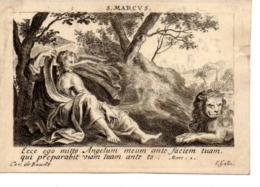 Image Pieuse S.Marcus (C.Galle) 1777 (parchemin) - Images Religieuses