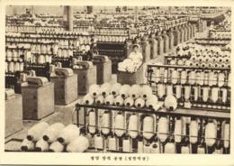 North Korea Coree, PYONGYANG, Textile Mill, Weaving Shop (1950s) Postcard - Korea, North