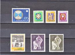 YOUGOSLAVIE 1967 Yvert 1126 + 1128-1130 + 1136-1138 NEUF** MNH - 1945-1992 République Fédérative Populaire De Yougoslavie