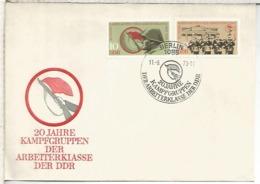 ALEMANIA DDR FDC 1973 20 AÑOS EJERCITO POPULAR ARMY - Militares