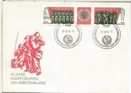 ALEMANIA DDR FDC 1978 25 AÑOS EJERCITO POPULAR ARMY - Militares