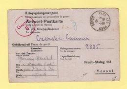 Correspondance De Prisonniers De Guerre - Vaux Les Pres Doubs Pour Le Front-stalag 141 De Vesoul Haute Saone - 5-2-1943 - Marcophilie (Lettres)