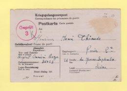 Correspondance De Prisonniers De Guerre - Front-stalag 141 De Vesoul Haute Saone - 7-2-1943 - Postmark Collection (Covers)