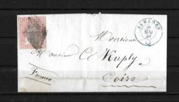 1854-1862 Helvetia (Ungezähnt) → 1856 Brief MADULAIN Franco SAMADEN (GR) Nach COIRE/CHUR (GR)   ►SBK-24B1.II/III◄ - Lettres & Documents