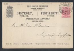 909d.Post Card (issue 1890). Post 1894 TPO (PV) No. 5 HT (Toijala - Seinajoki) Toijala. Russian Finland. Railway Mail. - 1856-1917 Russian Government