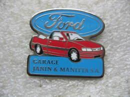 Pin's Concessionnaire FORD, Garage Janin & Manitta SA - Ford