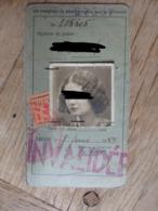 Carte D'Identité Belge - Liège - En 1944 - Voir 2 Scans. - Militaria