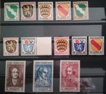 Französische Zone 1945 Wappen Allgem.Ausgabe Postfrisch Unused Mi.Nr.1- 13 Mi.Pr.28.--€ - Französische Zone