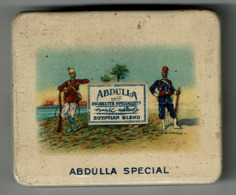 Antique Empty 20 Cigarette Tin - Boîte Ancienne Cigarettes ABDULLA SPECIAL Egyptian Blend / 5 Scans - Tabaksdozen (leeg)