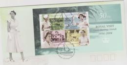 Cocos (Keeling) Islands 2004 Royal Visit Miniature Sheet FDC - Cocos (Keeling) Islands