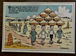 """Oude Postkaart Door   W . VANDERSTEEN   Kerstoproep  """" Kinderen In Nood """"  '68 - Bandes Dessinées"""