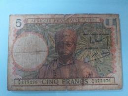 AFRIQUE FRANCAISE LIBRE-5 FRANCS 1941.RARE - Andere